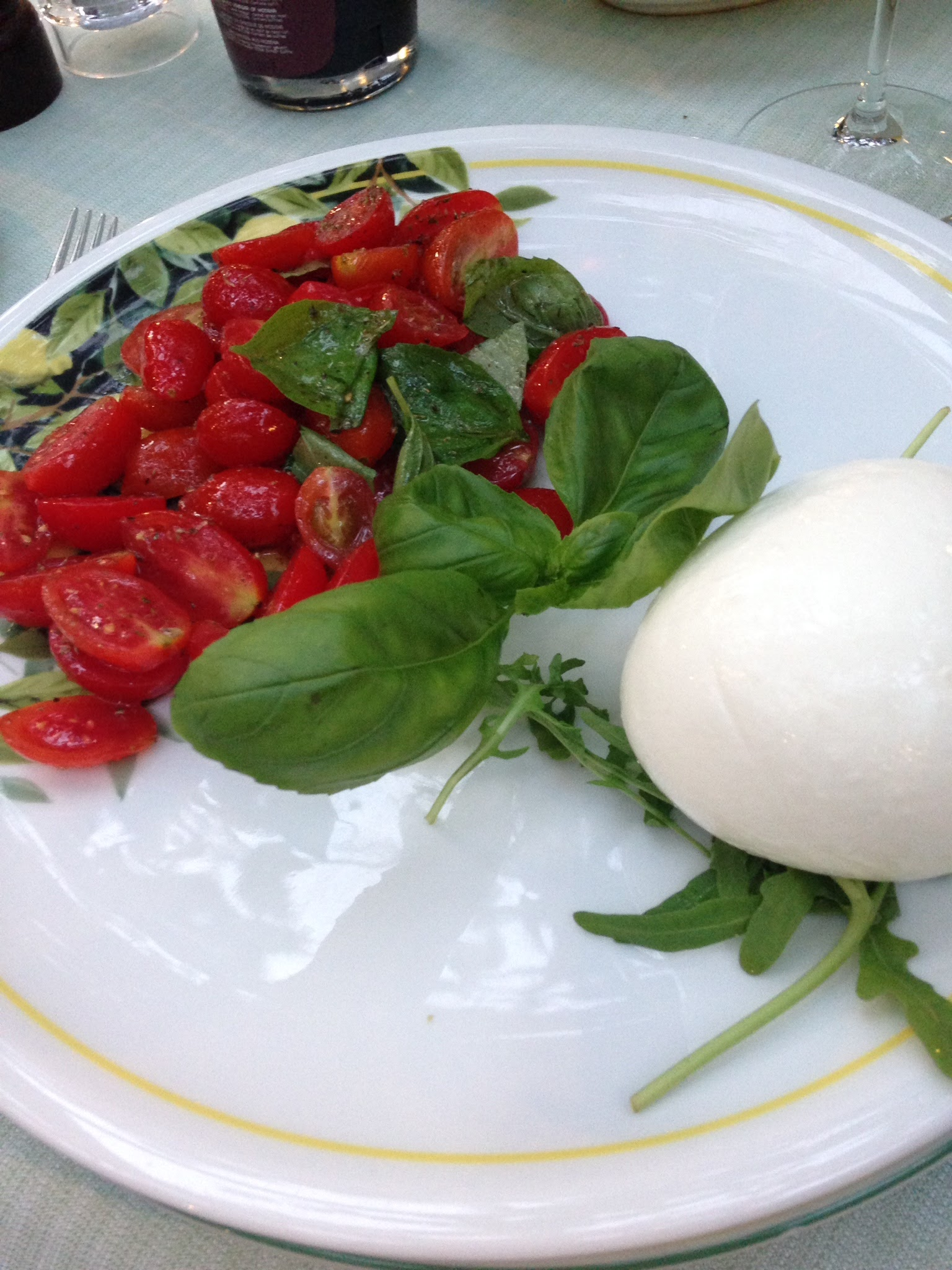 Having a caprese salad in Capri is a must!