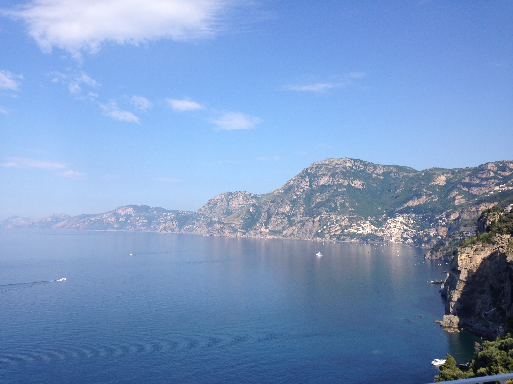 Breathtaking views from Praiano, looking towards Positano