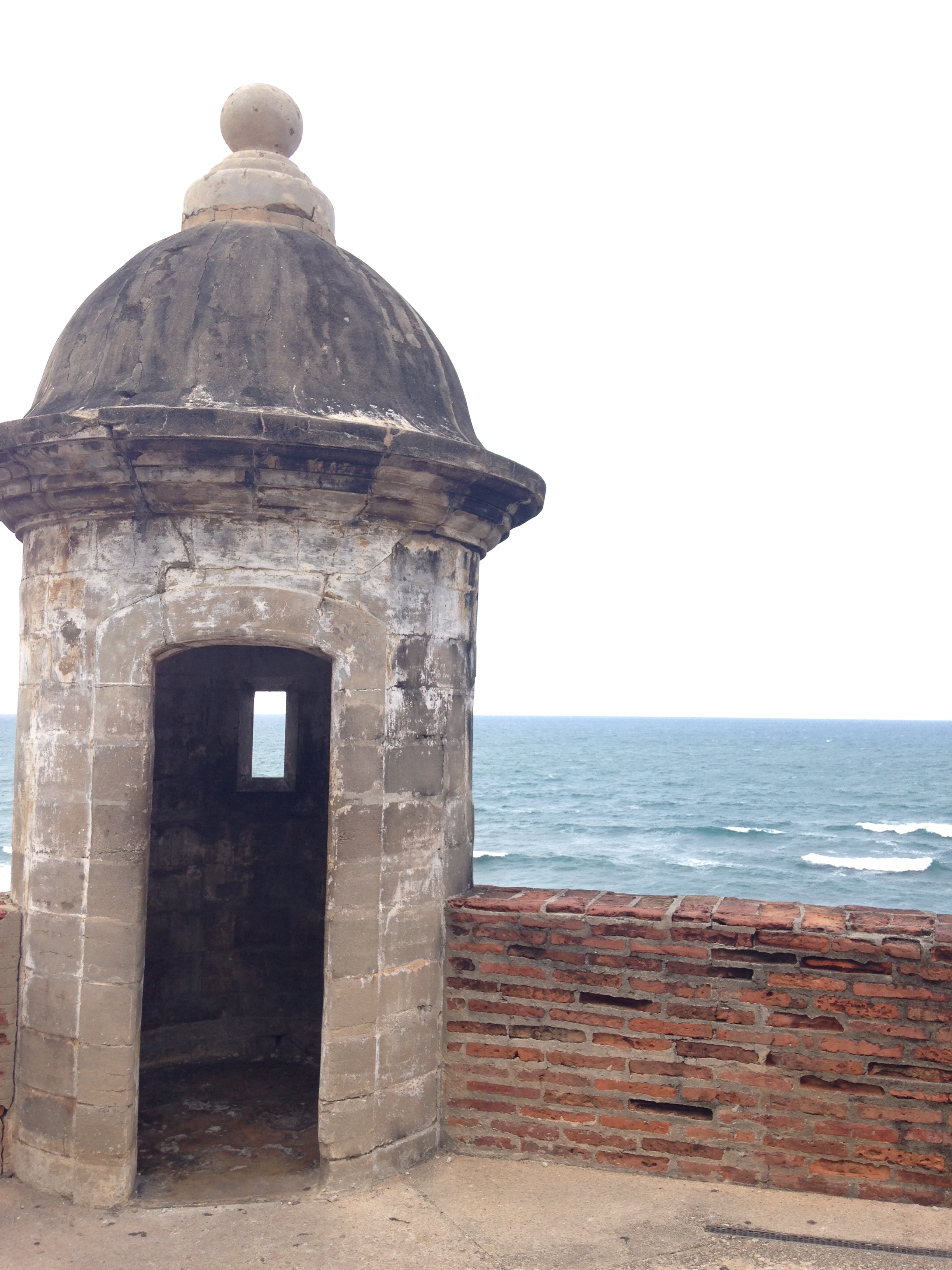 An old lookout point at the fortress in Old San Juan