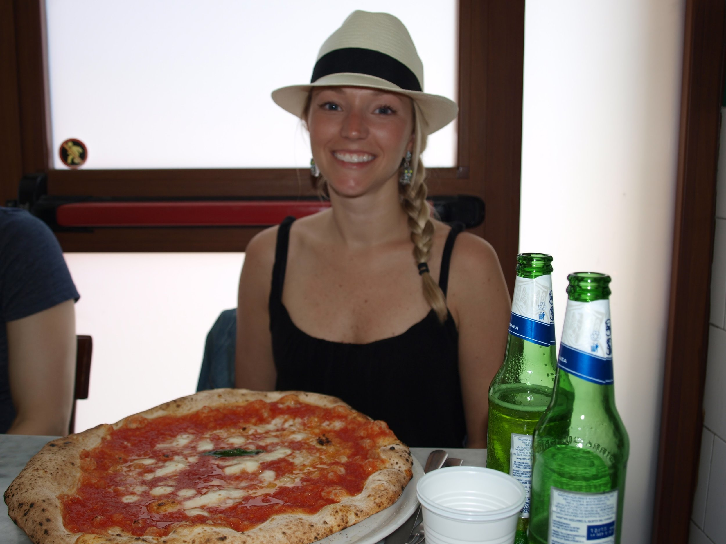 Pizza and Peroni at Da Michele...best pizza of my life!