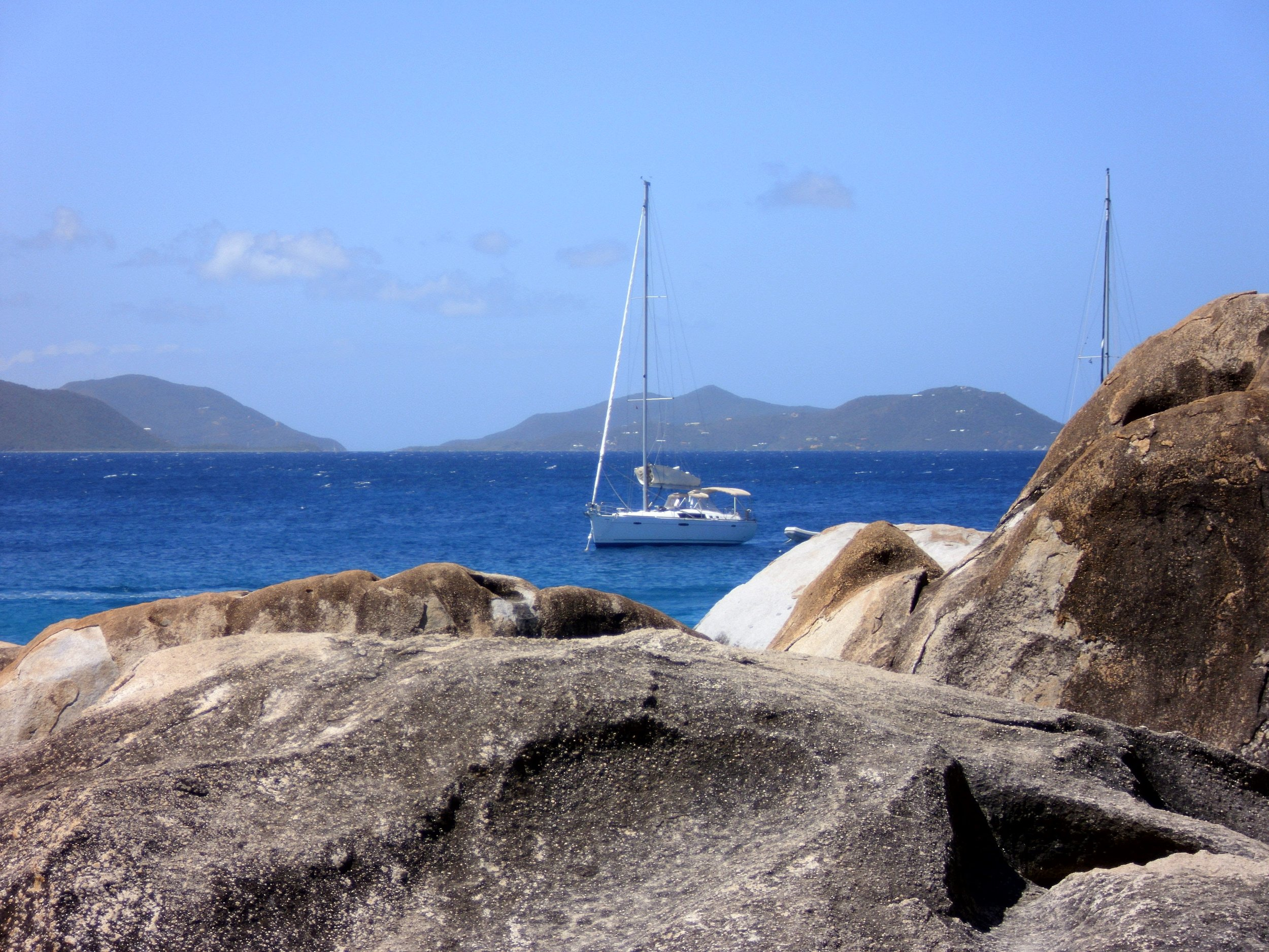 sailboat in devil's bay