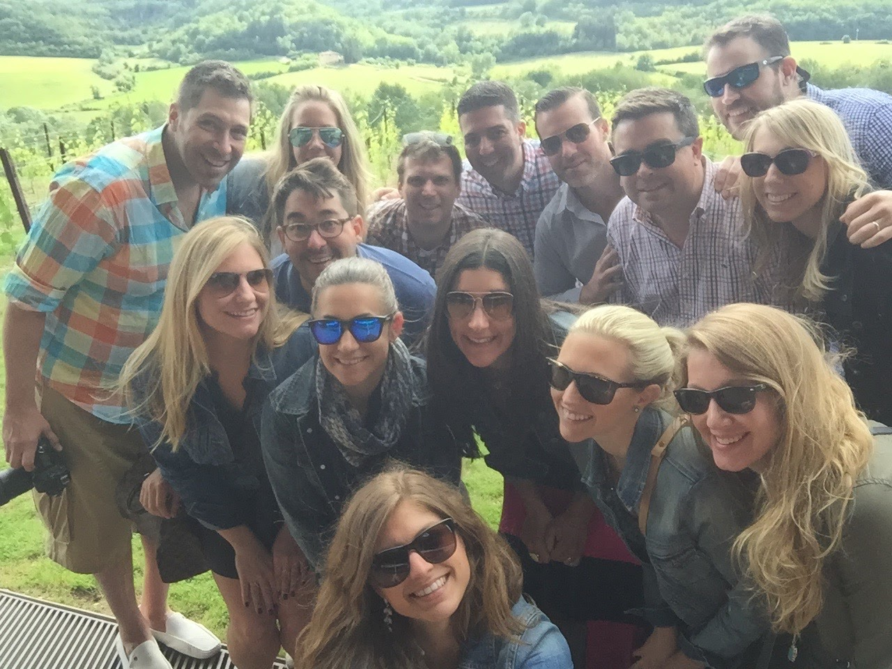 The crew at Antinori Winery