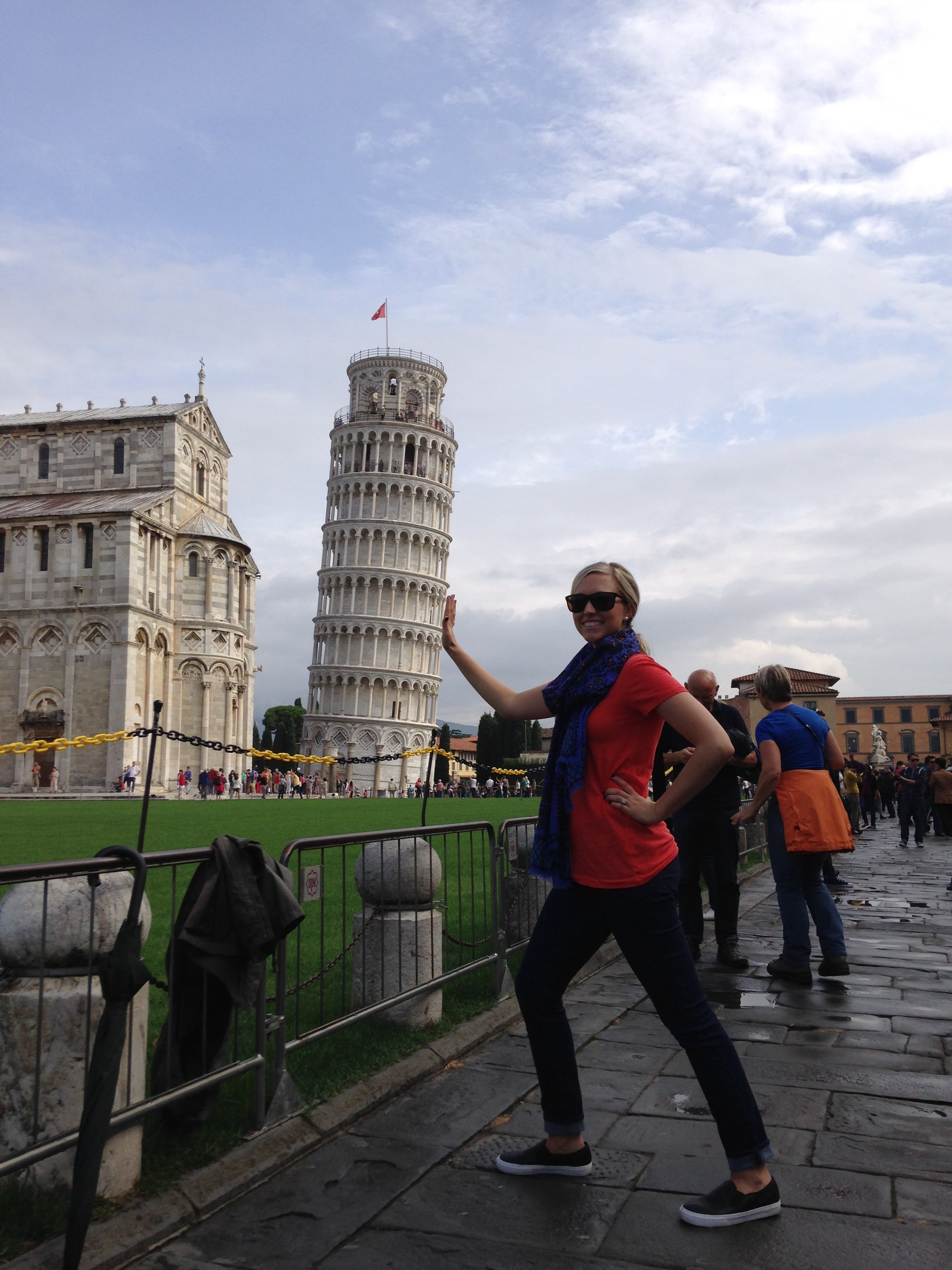An obligatory picture with the Leaning Tower
