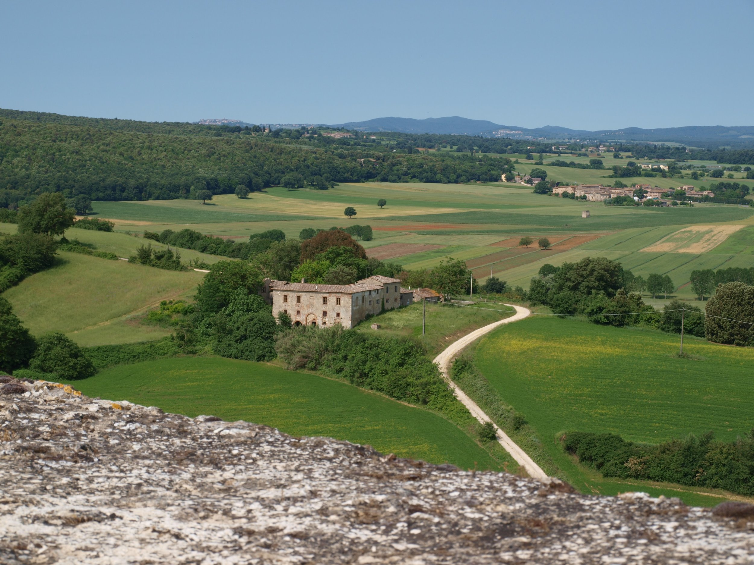 The view from the walls of Monteriggioni