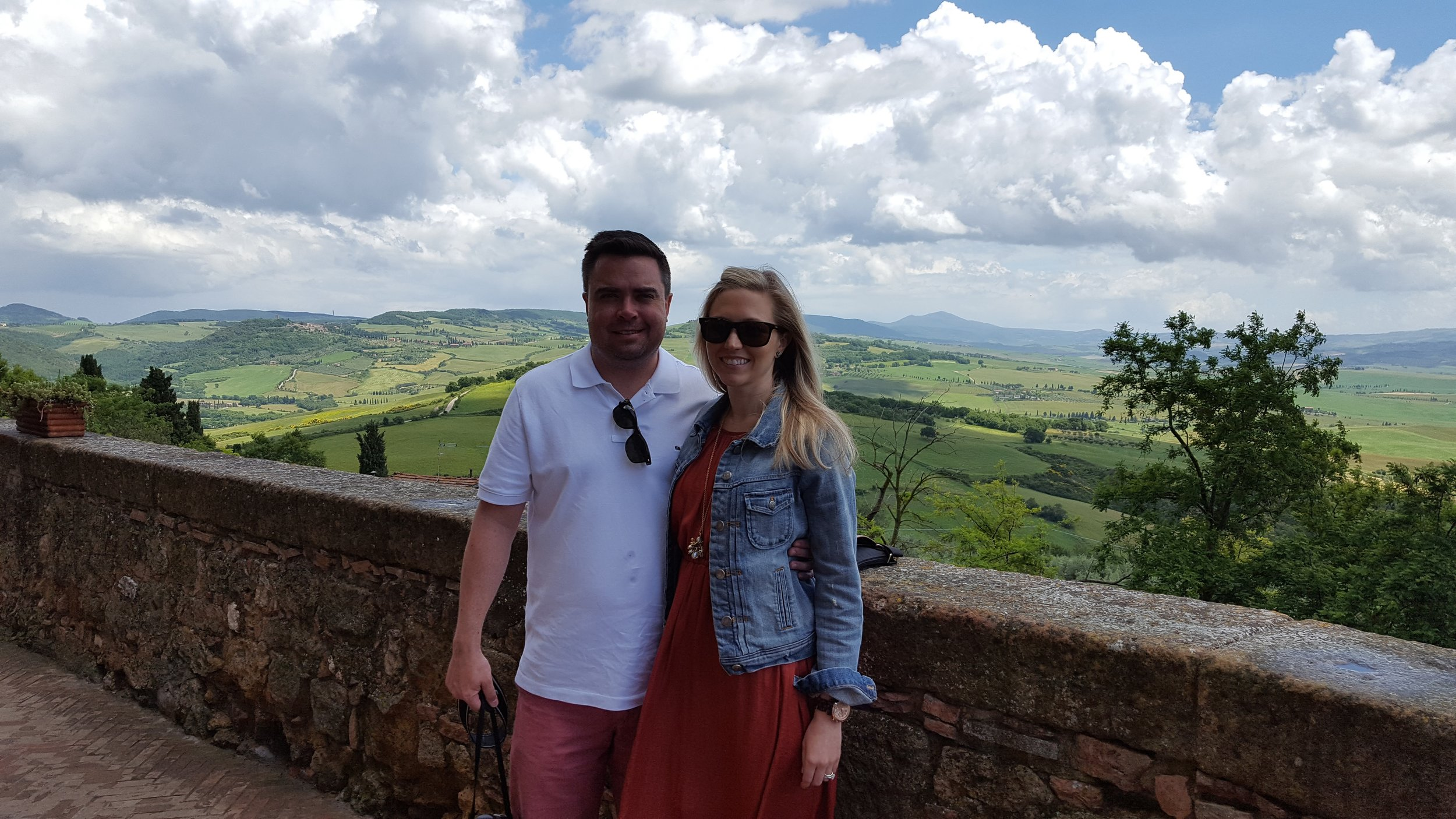 Cam and me taking in the view of the Tuscan countryside