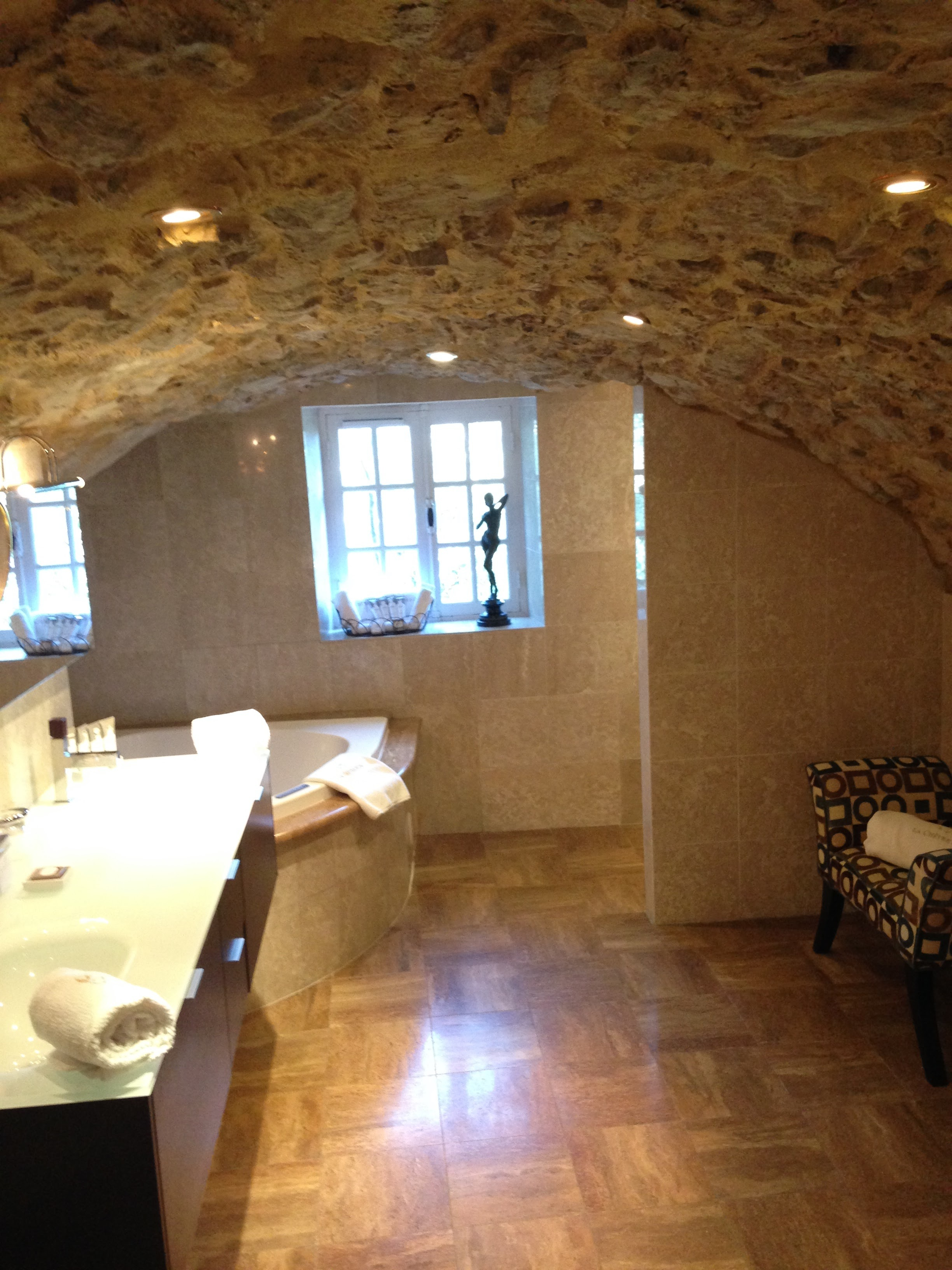 Huge bathroom in a cave
