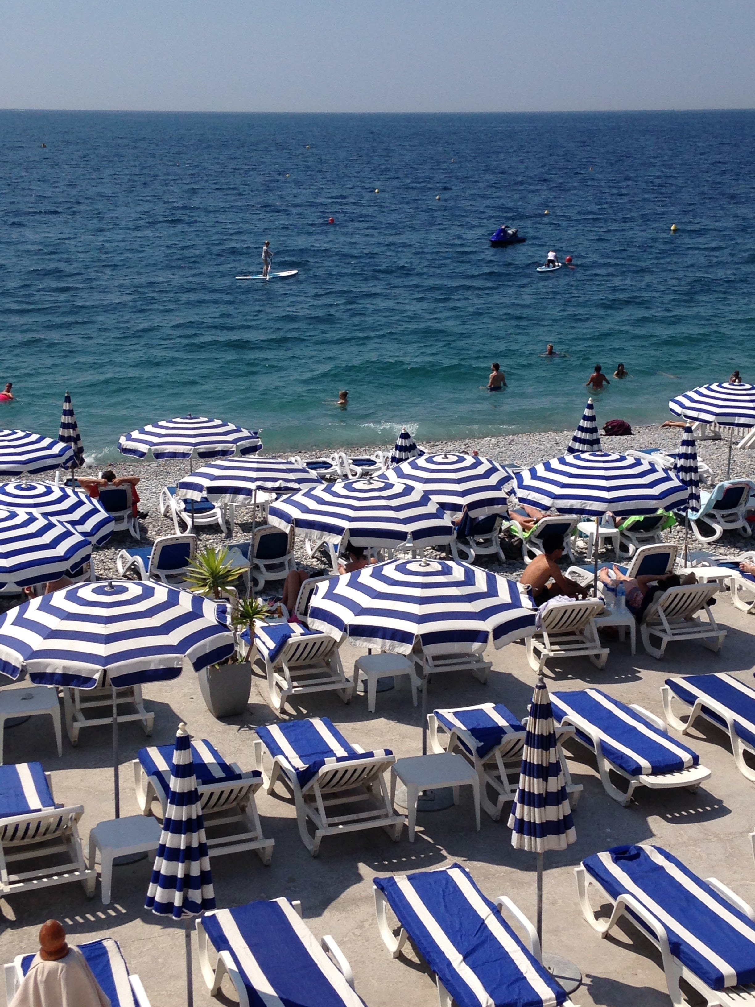 Beach umbrellas in Nice
