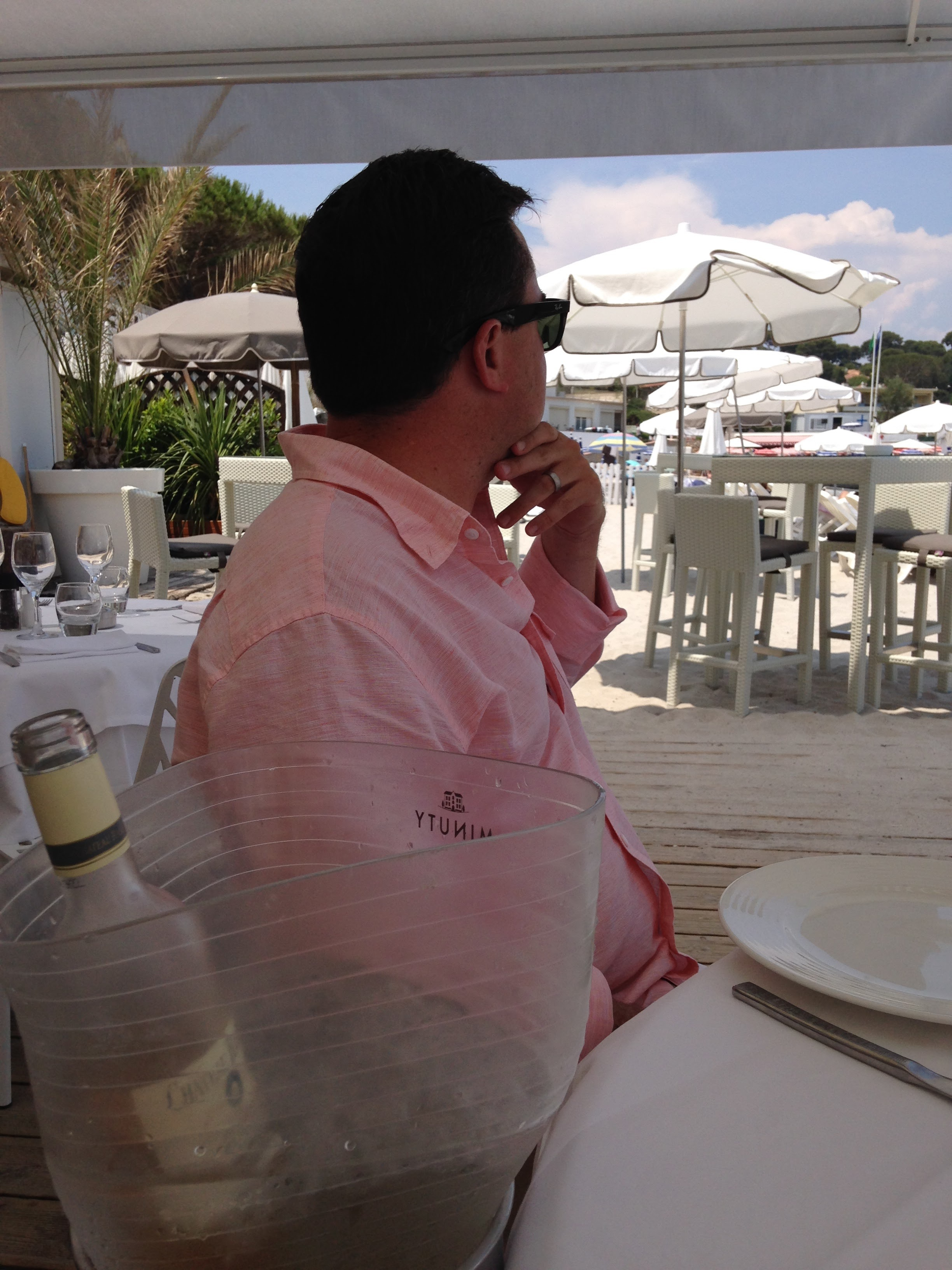 Rosé-filled lunches in Antibes