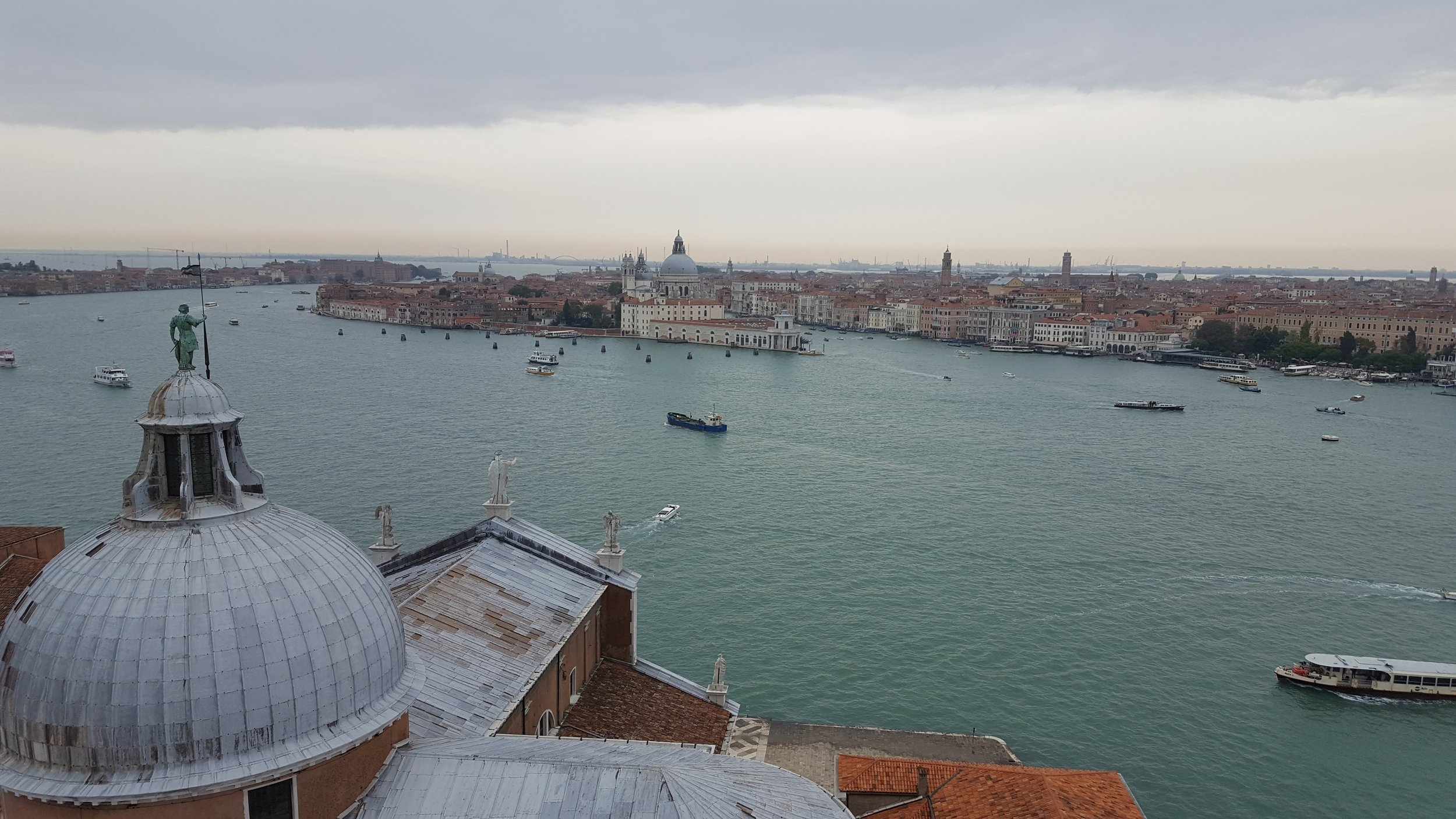 The Campanile di San Giorgio offers the best view in all of Venice