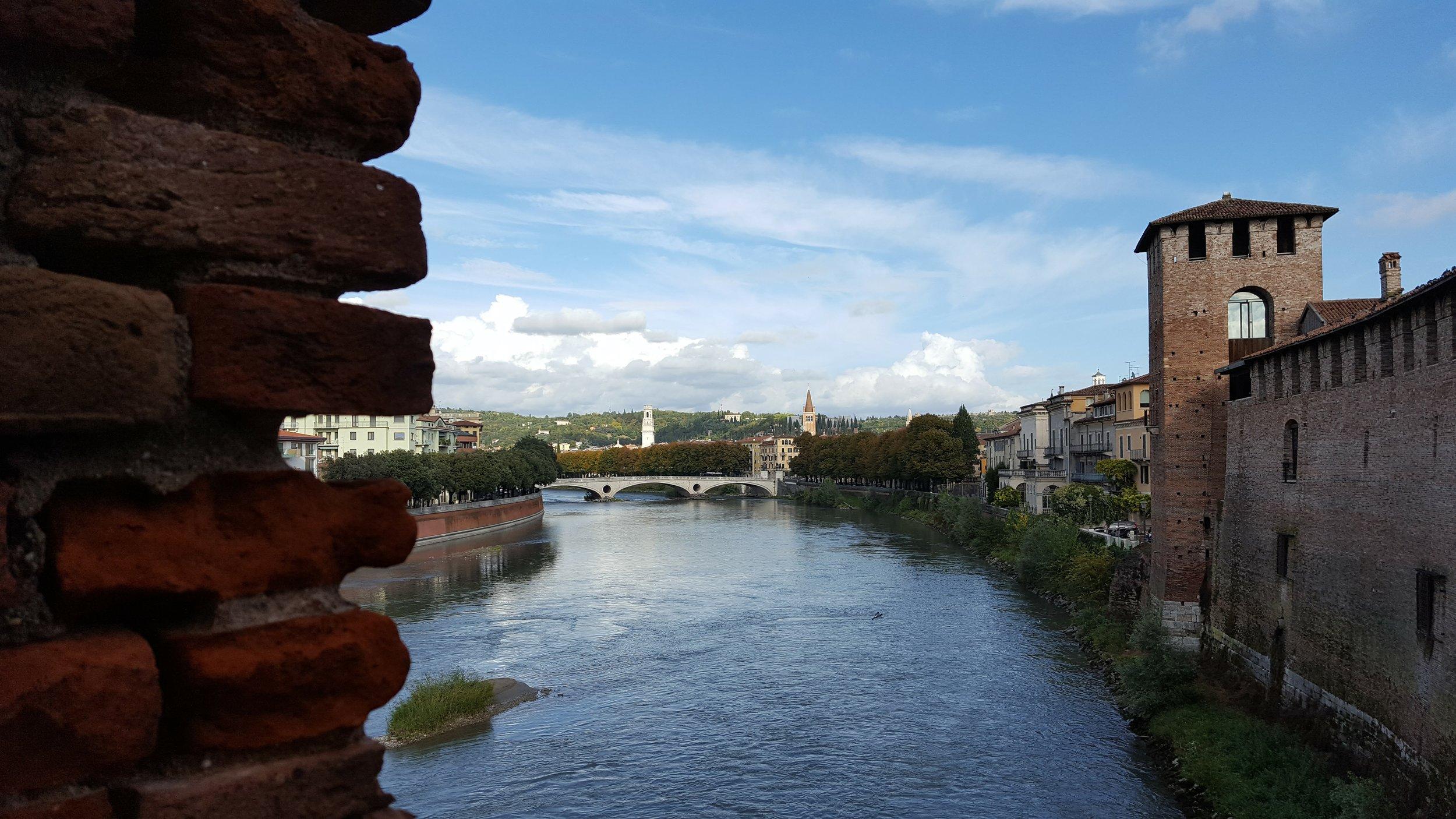 What a view from the Castelvecchio Bridge, Verona