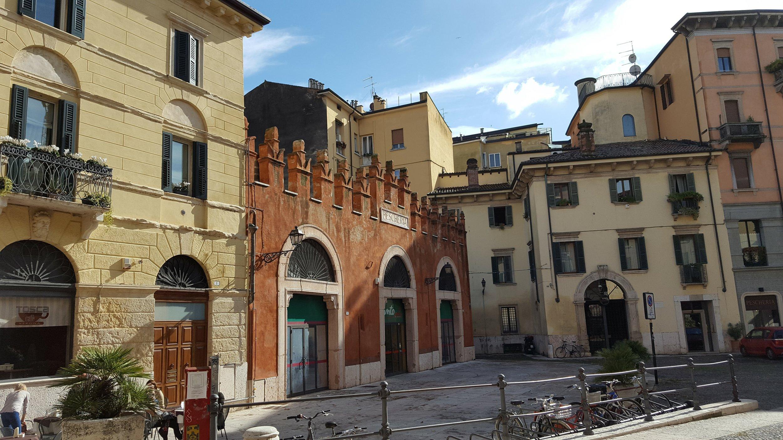 Small piazza in Verona
