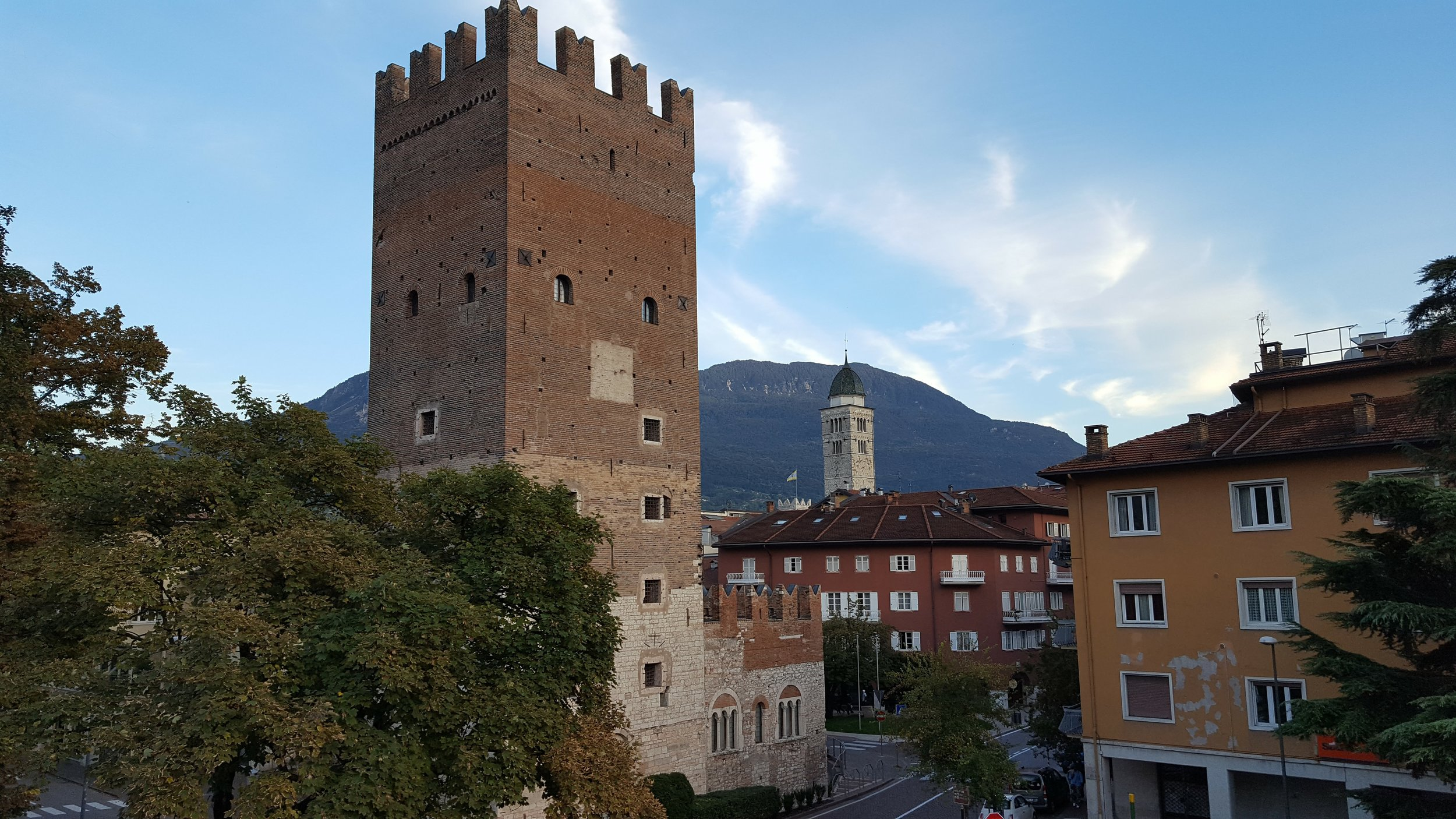 The medieval city of Trento