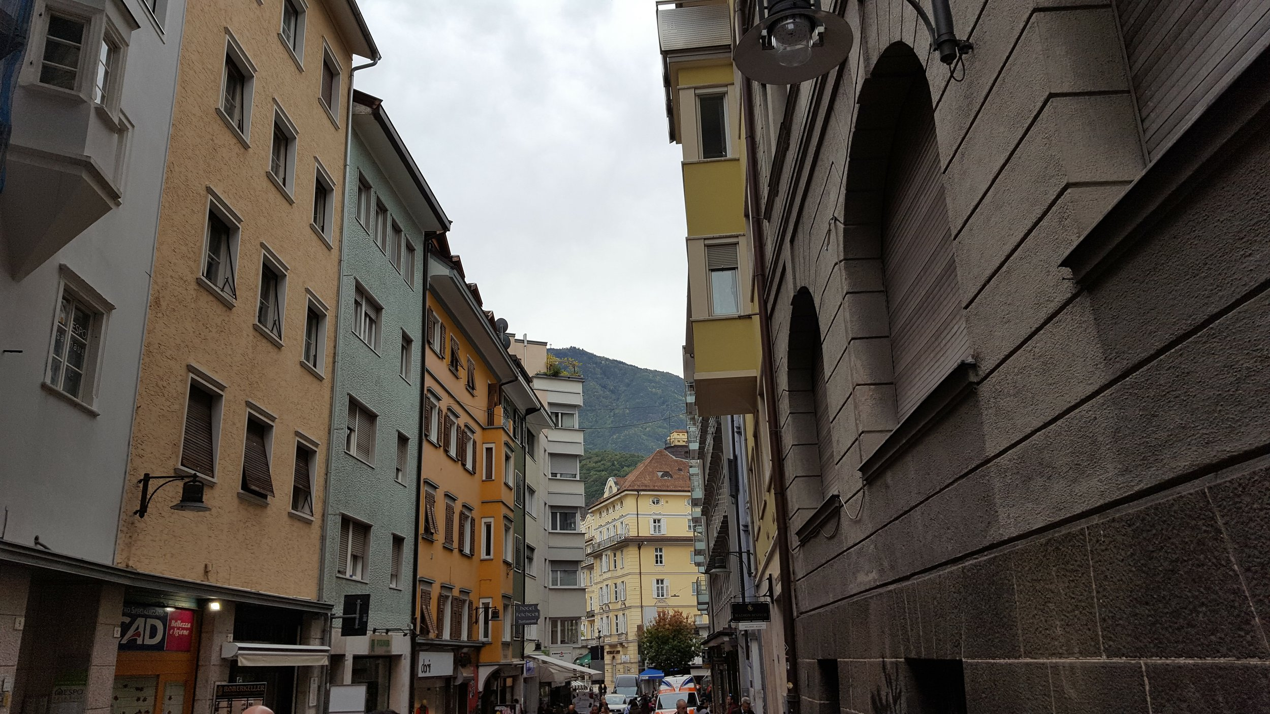 The streets of Bolzano
