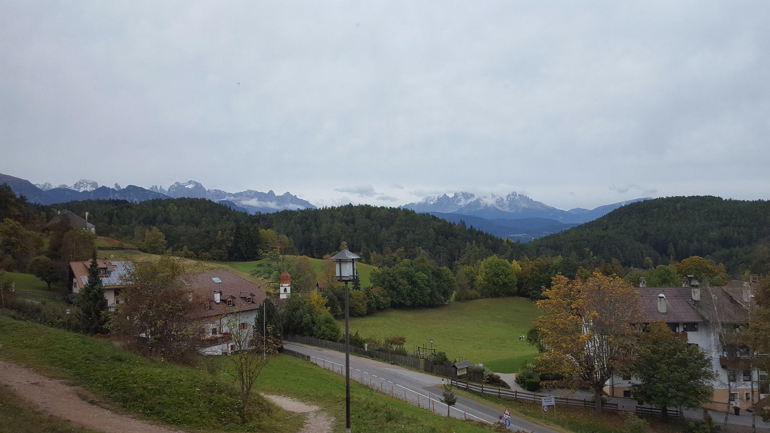 View of the Dolomites from Soprabolzano