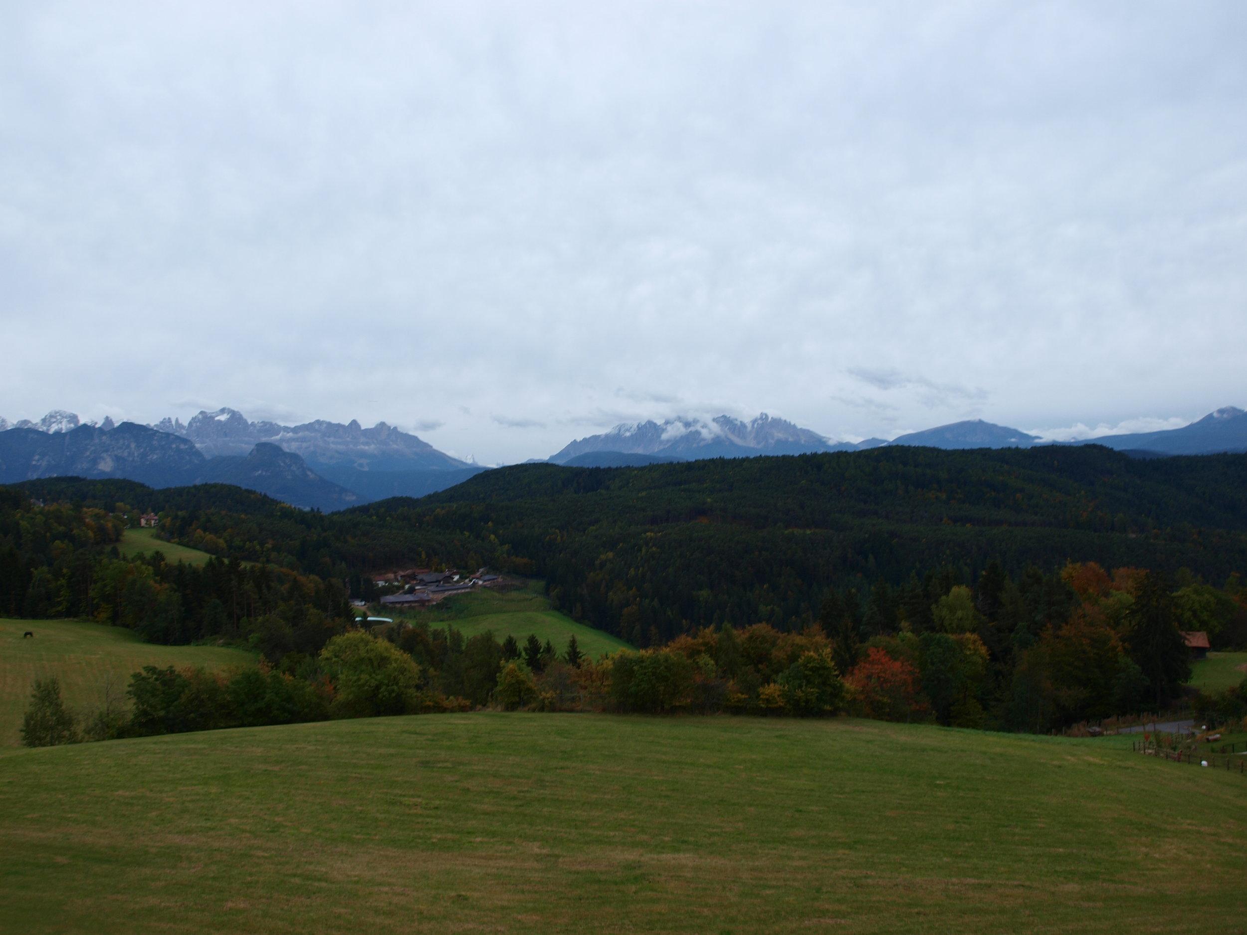 The craggy Dolomites