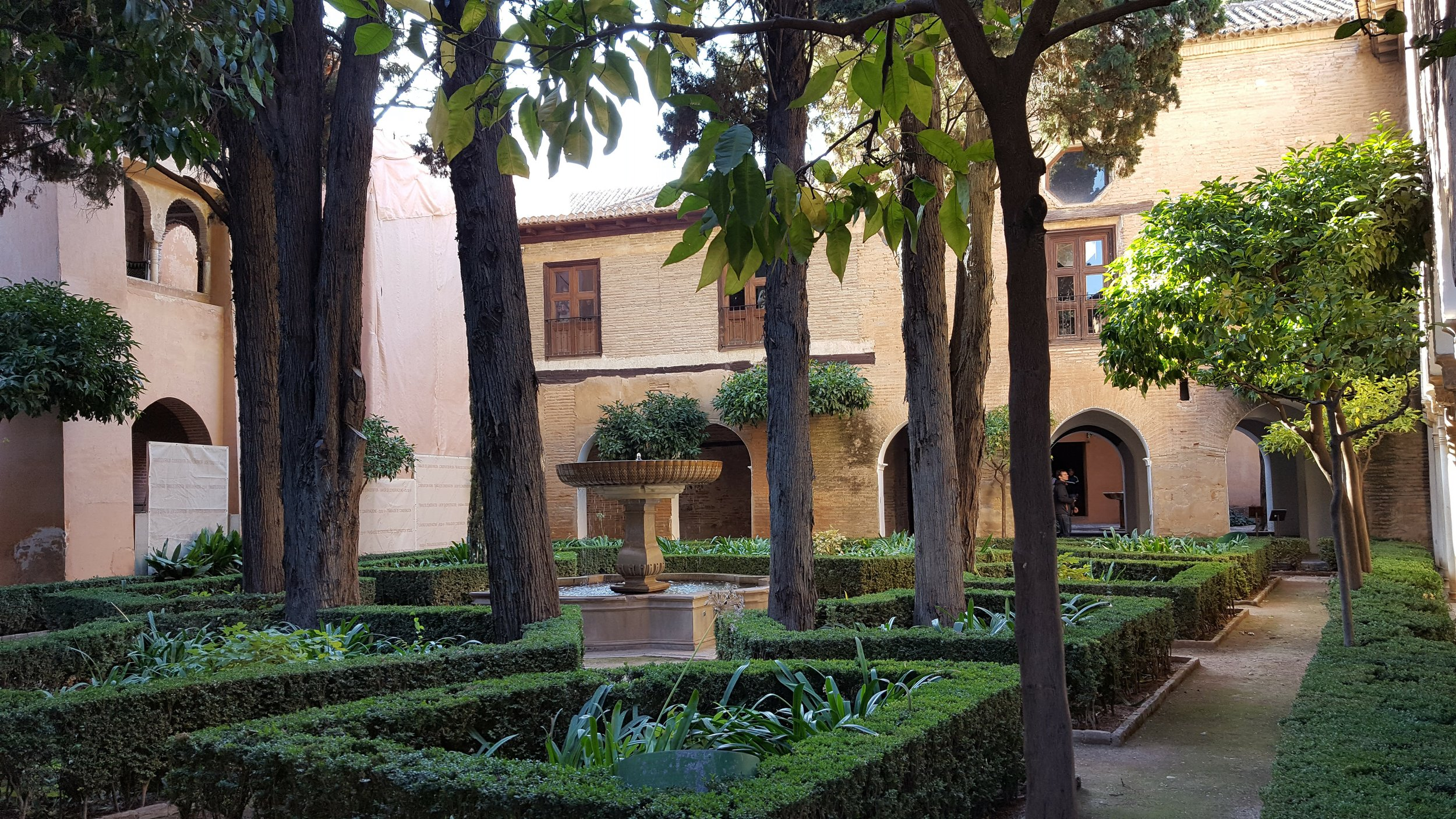 One of the many courtyards in the Alhambra in Granada