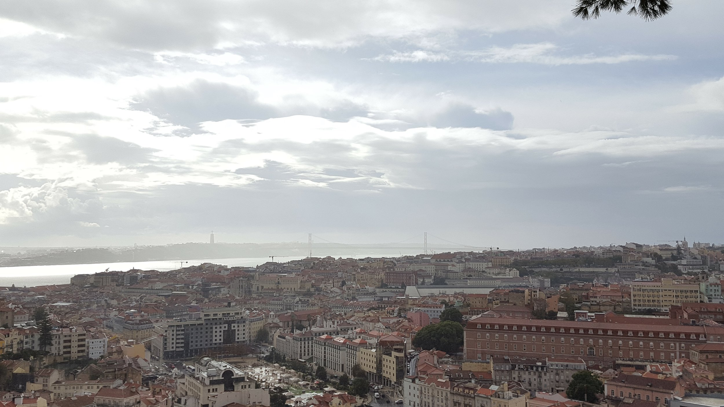 The view from Castelo de São Jorge, with the bridge in the distance