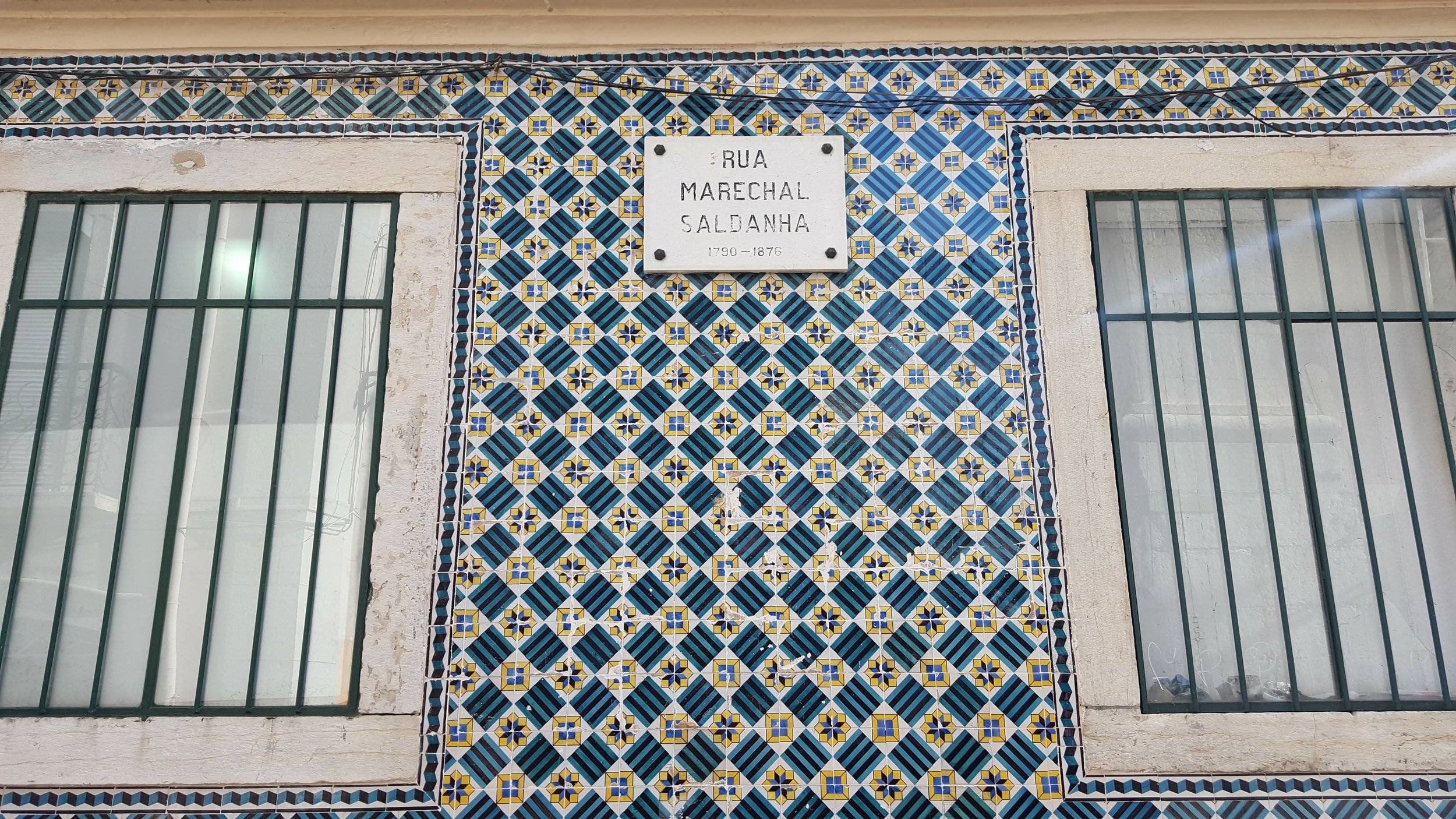 Beautiful façade of azulejos