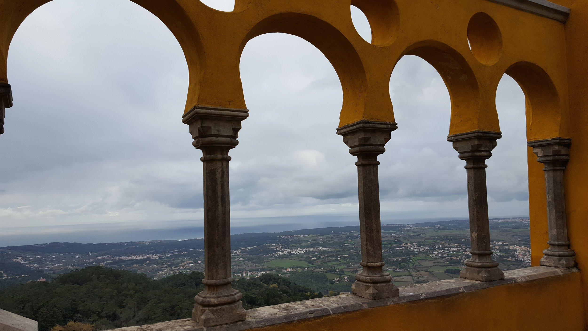 View from Pena Palace...the clouds are crazy!