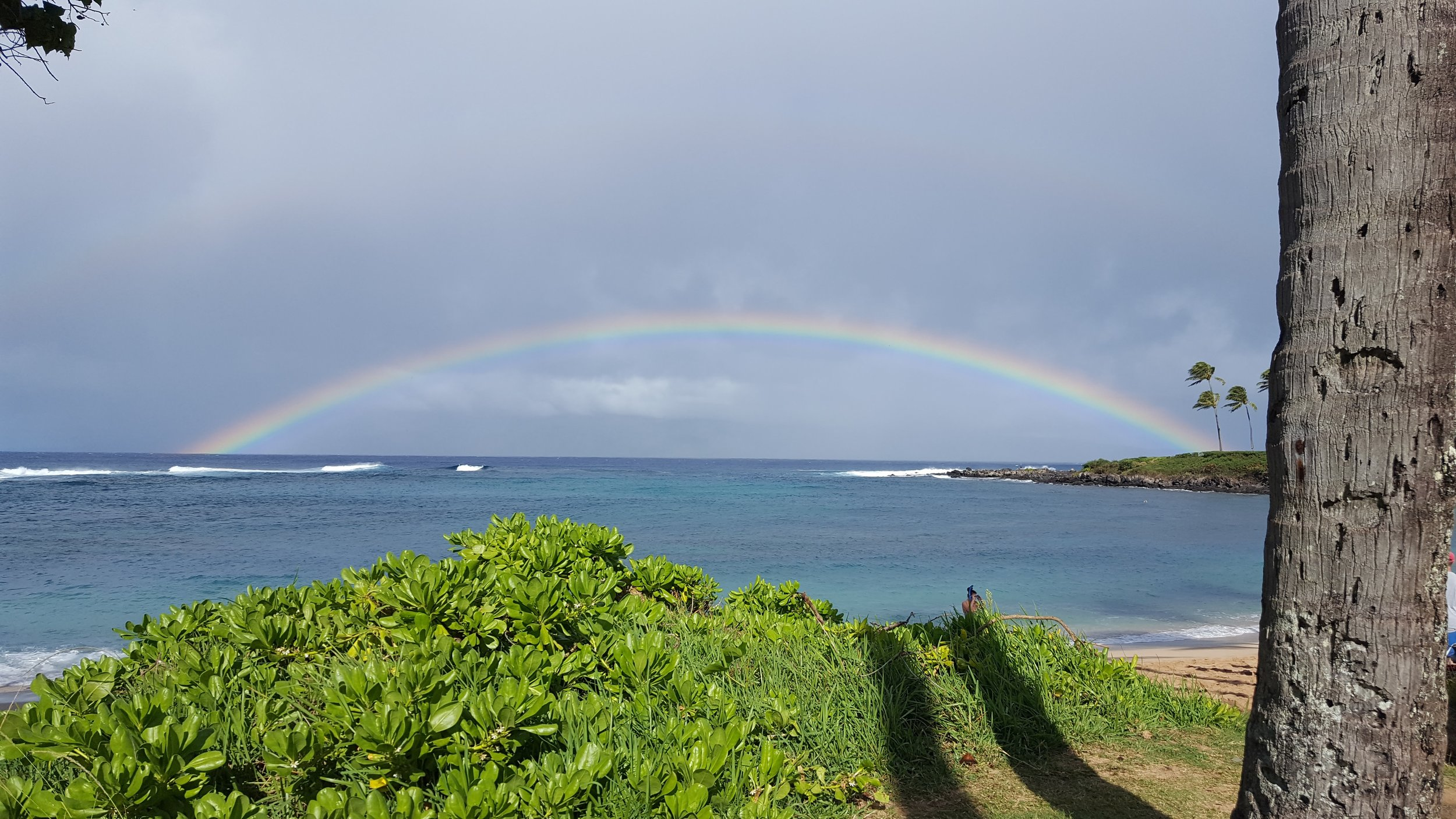 Rainbows are a regular occurrence in Kapalua