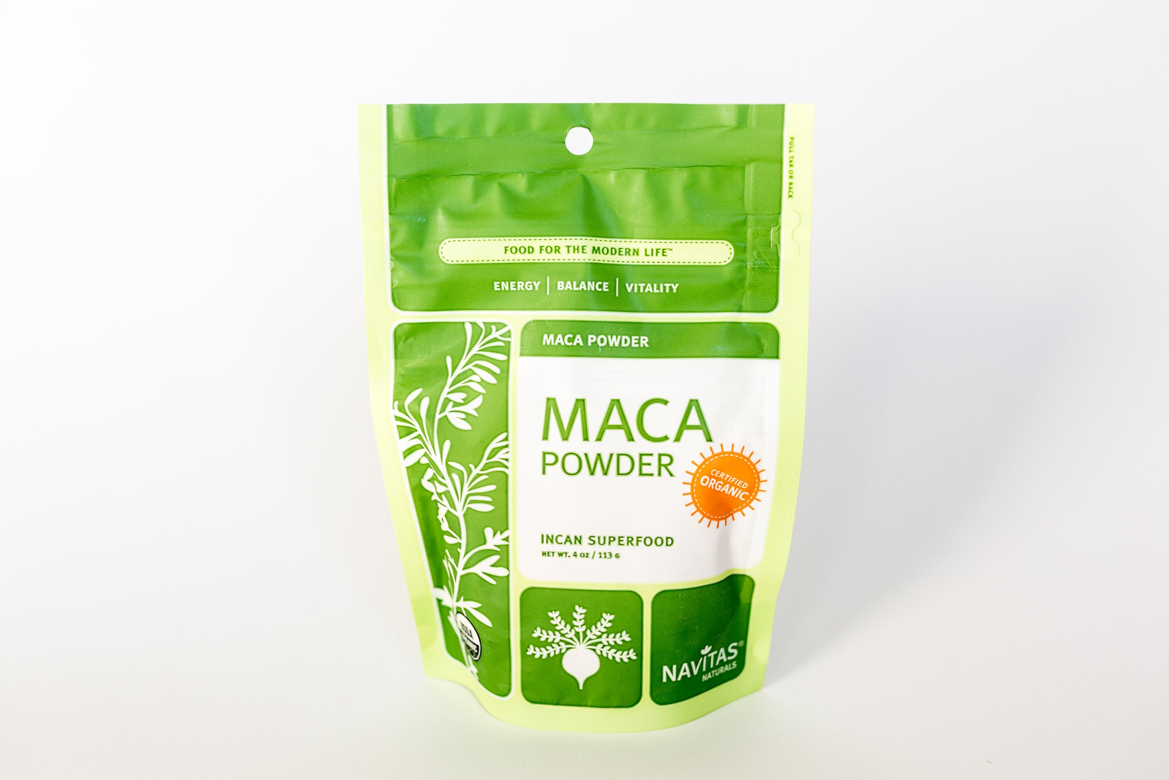 Benefits:  Maca comes from a root that has a restorative affect on your adrenal glands, which in turn can boost your energy levels. Drinking too much coffee, being under too much stress, and exerting ourselves beyond our limits have a taxing effect on our adrenal glands. So Maca is a great supplement for just about everyone. Furthermore, Maca can also help balance your hormones, need I say more?   Consumption:  1T per day in smoothies or oatmeal