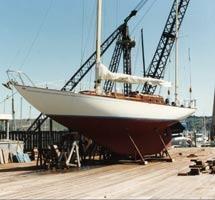 Spaulding designed and built  Chrysopyle at Spaulding Boatworks