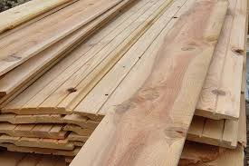 Milled wood siding style all lay in a pile