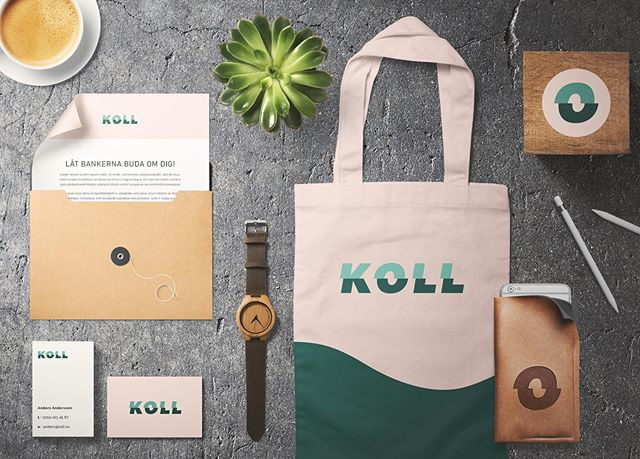 "I was honoured to design the new visual identity for Swedish company Koll (meaning sort of ""check"", or to keep track, be aware of something). The O can also be used as a separate symbol (resembling an eye, keeping track 🧐). Thanks for an awesome collaboration Koll.nu 💚 . . . . . #visualidentity #identitydesign #logodesign #graphicidentity #logo #koll #logotype #graphicdesign #designcuts #mockupdesign"