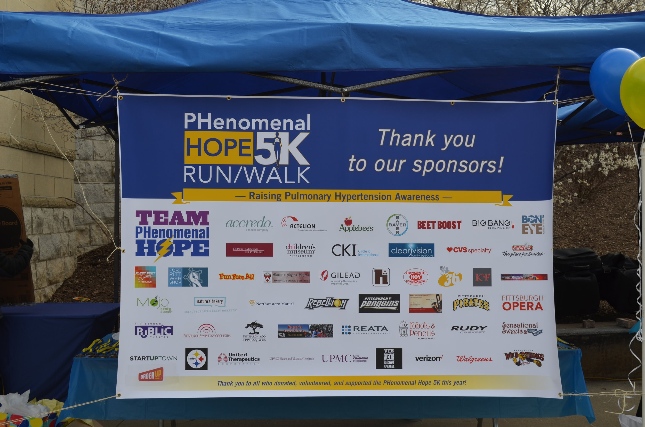 Thank you to all of the 2016 PH5k Sponsors!