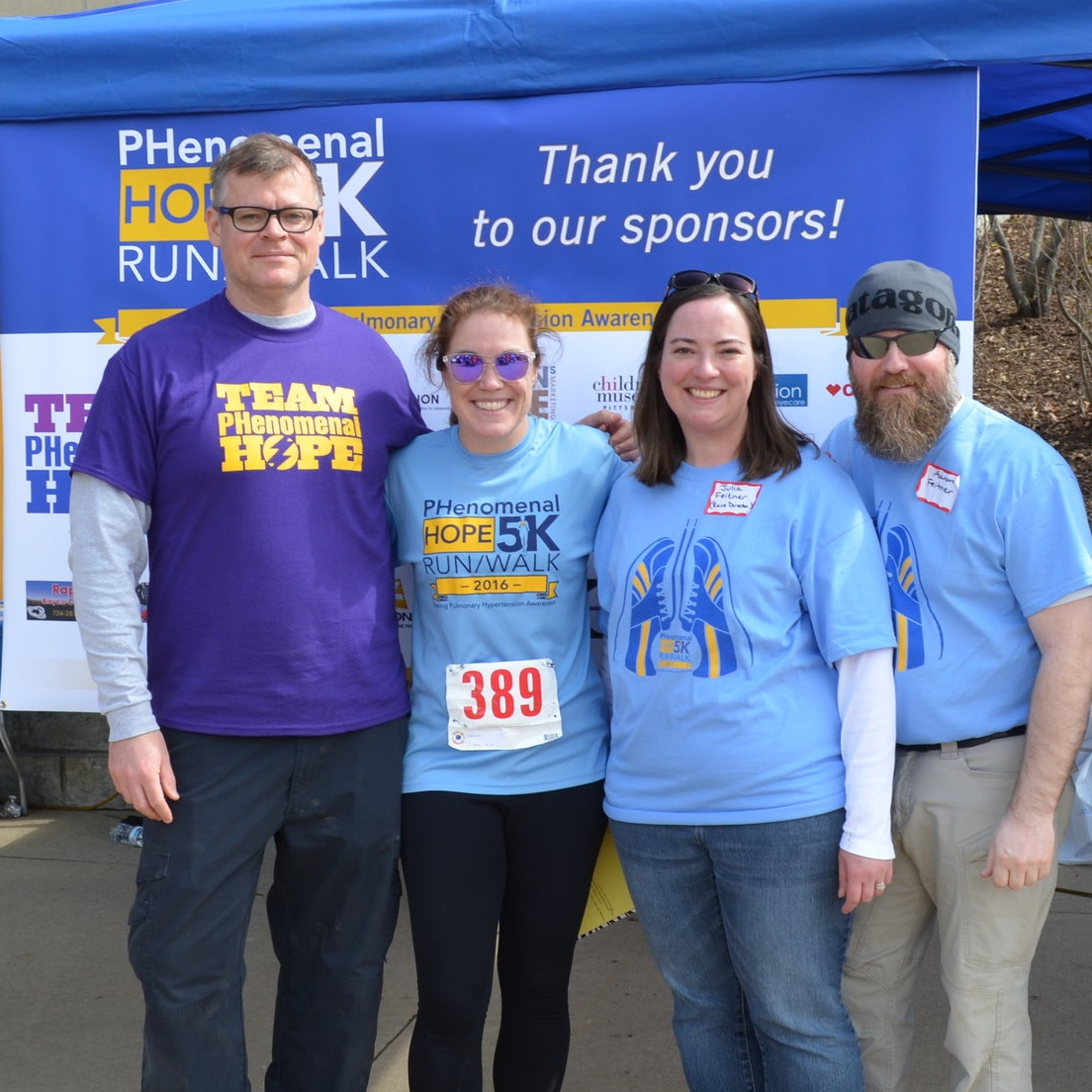 Chris Field & Dr. Patty George (Team PHenomenal Hope's Executive Director & President) with Julia & Aaron Feitner (Race Directors)