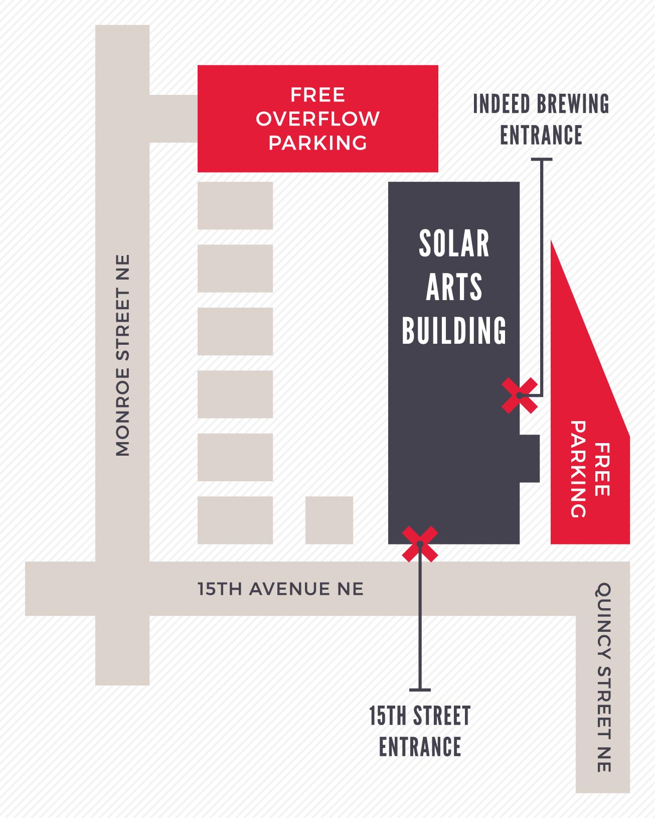 Solar-Arts-Building-Parking-Map