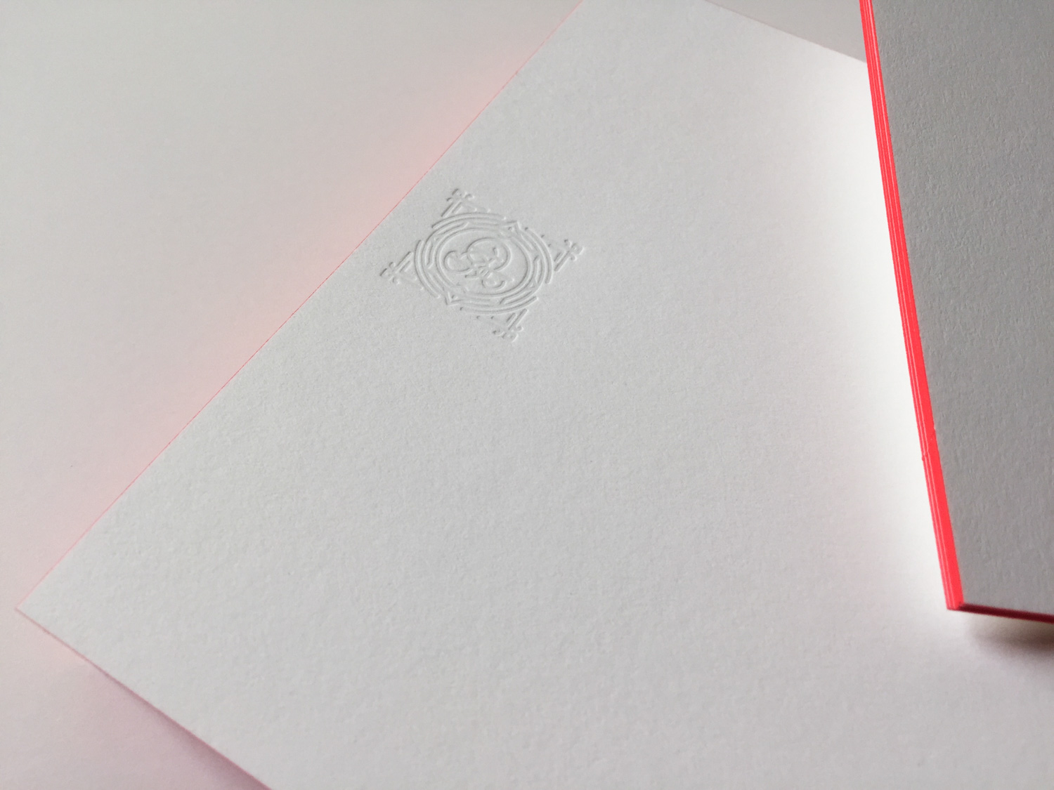 Letterpressed and edge painted notecards by Studio On Fire