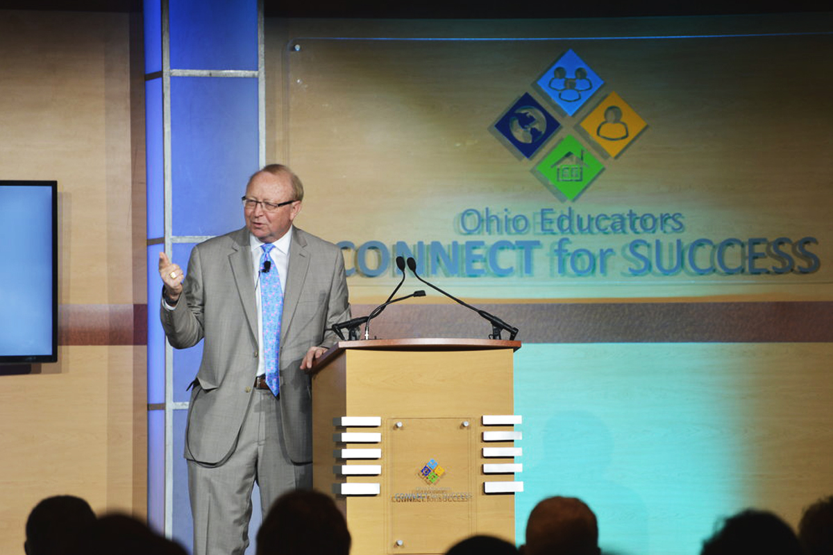 Jim Mahoney delivering keynote to Ohio educators