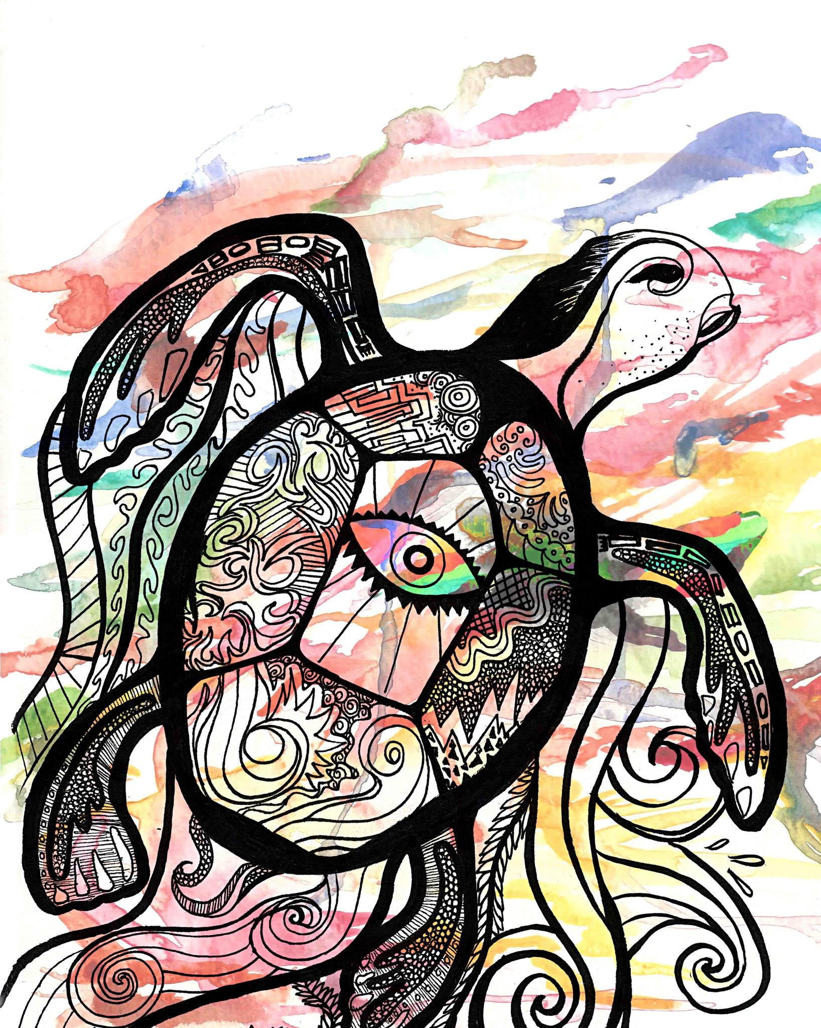 Koa Waker Band Turtles