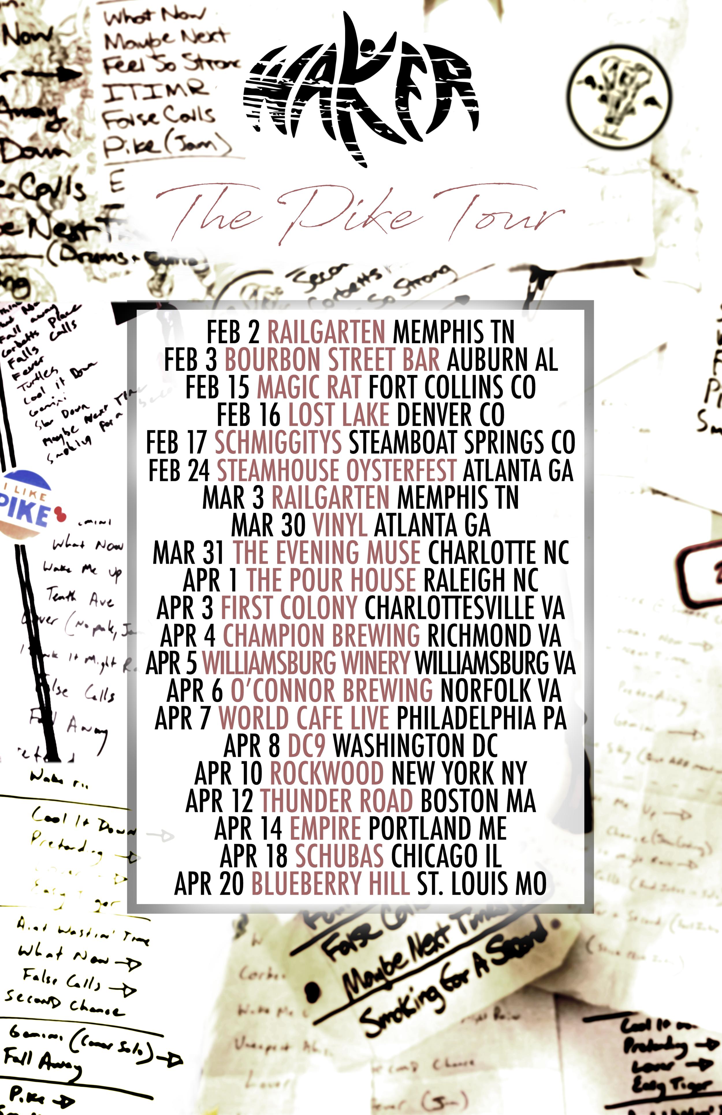 Waker Spring Tour Poster
