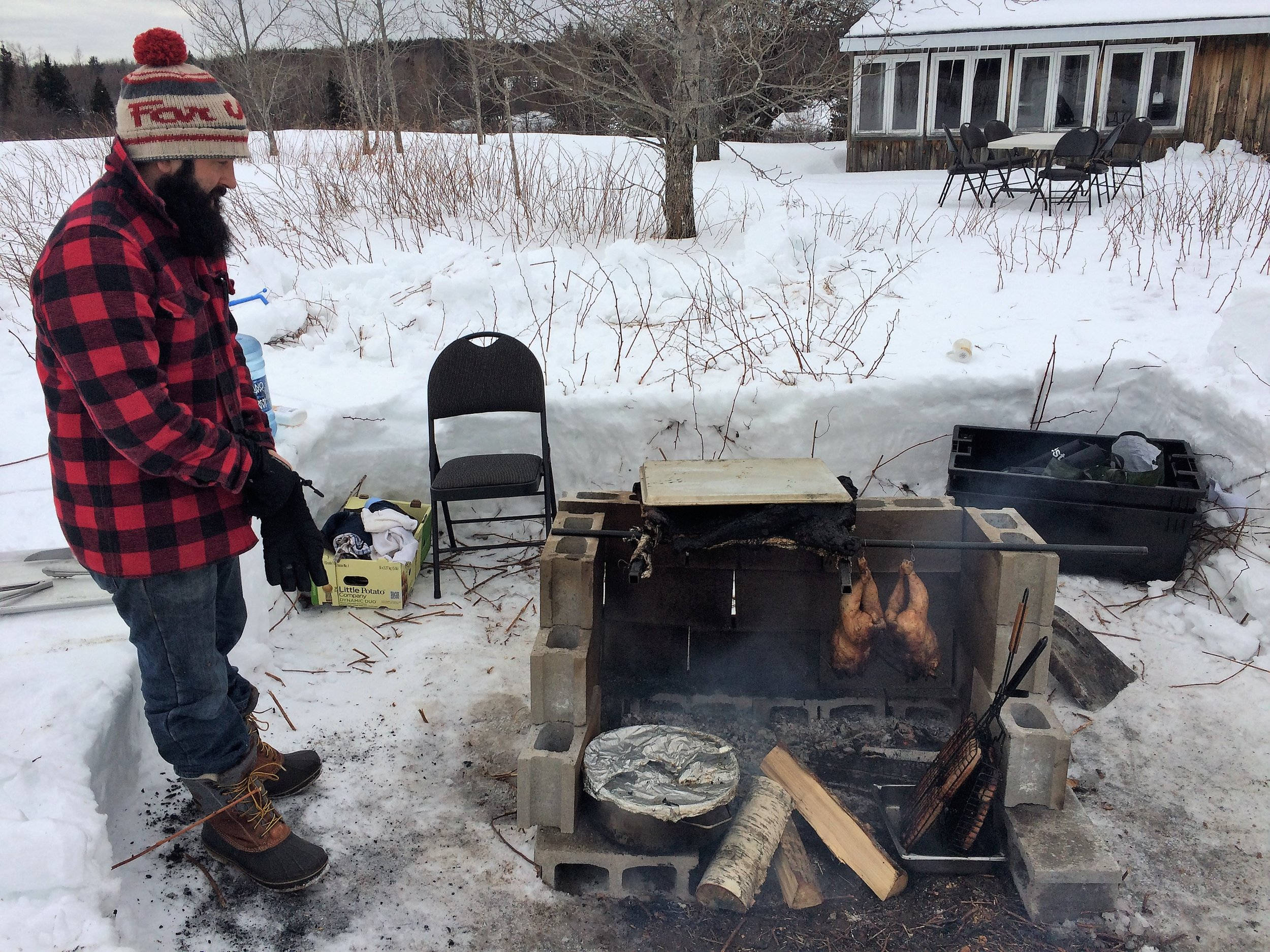 Kudos to Chef Jean-François Daigle 12 hours of off-grid cooking
