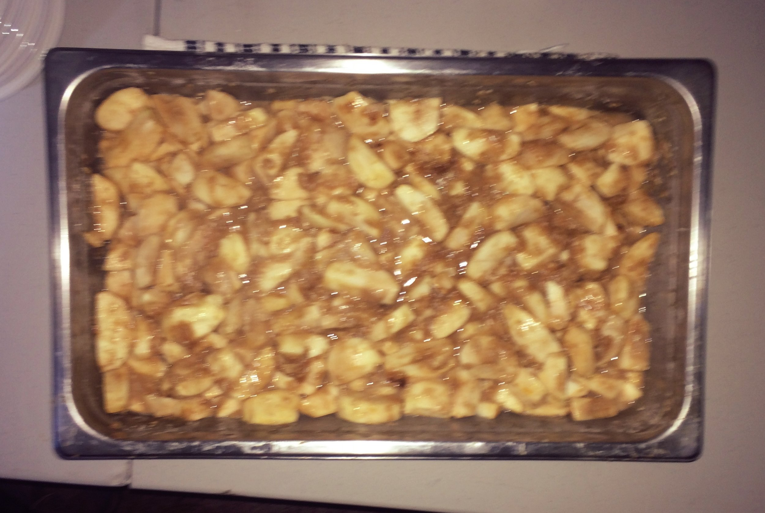 Bakes apples in a cinnamon syrup. Unfortunately the picture doesn't do is justice.