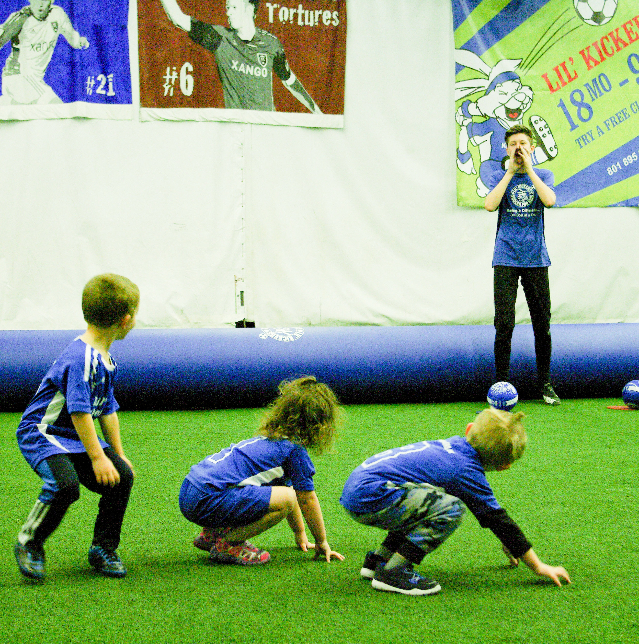 Coach Riley's 4 and 5 year old class Utah Lil' Kickers in Sandy