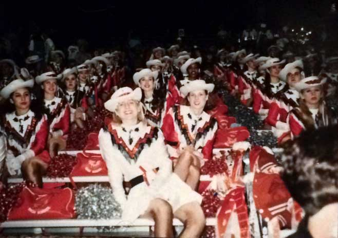 The Sundancers drill team in 1993.