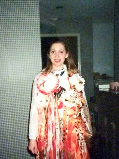 The minimum number of homecoming mums one must sport in Texas to keep up the ruse that they might be popular, which I wasn't—evidenced by the fact that I had to make three of these myself (an anathema! they must be gifted!) and had numerous glue gun scars on my hands to show for it.