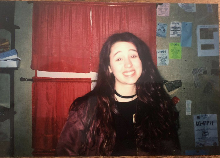 The author sometime in the 1990s, in a photo taken by her late friend
