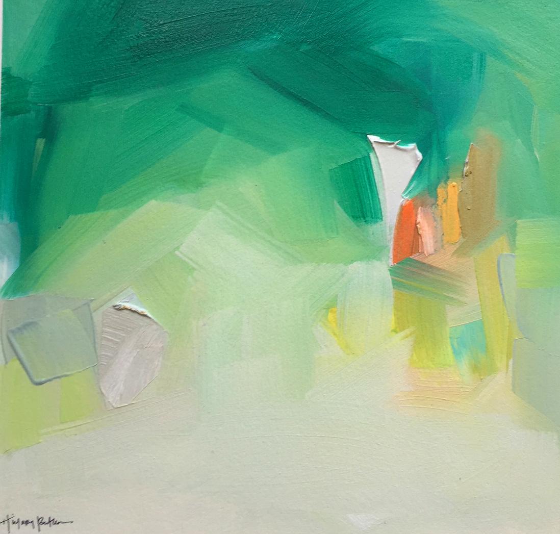hillary.butler.art.abstract.painting.deep.green.rainforest.cafe.jpg