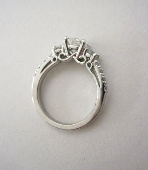 Finished, custom made, diamond engagement ring.  - Jensen Jewelers Toledo, Ohio