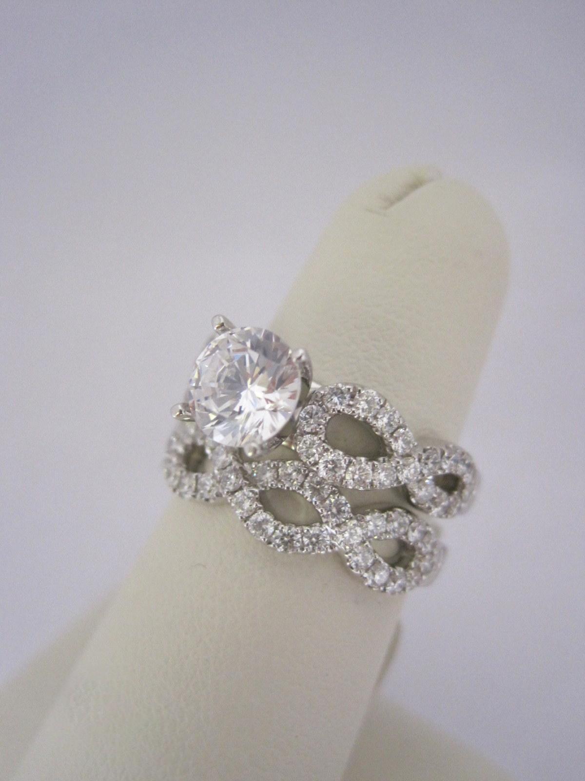 Diamond Bridal Set with Weave Detail