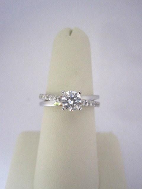 Criss Cross Diamond Engagement Ring