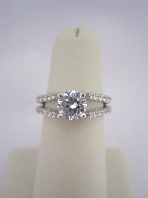 Diamond Engagement Ring with a Split Shank