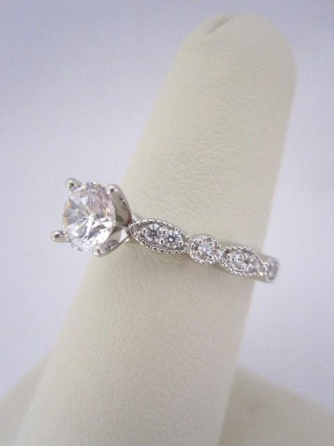 Diamond Milgrain Engagement Ring