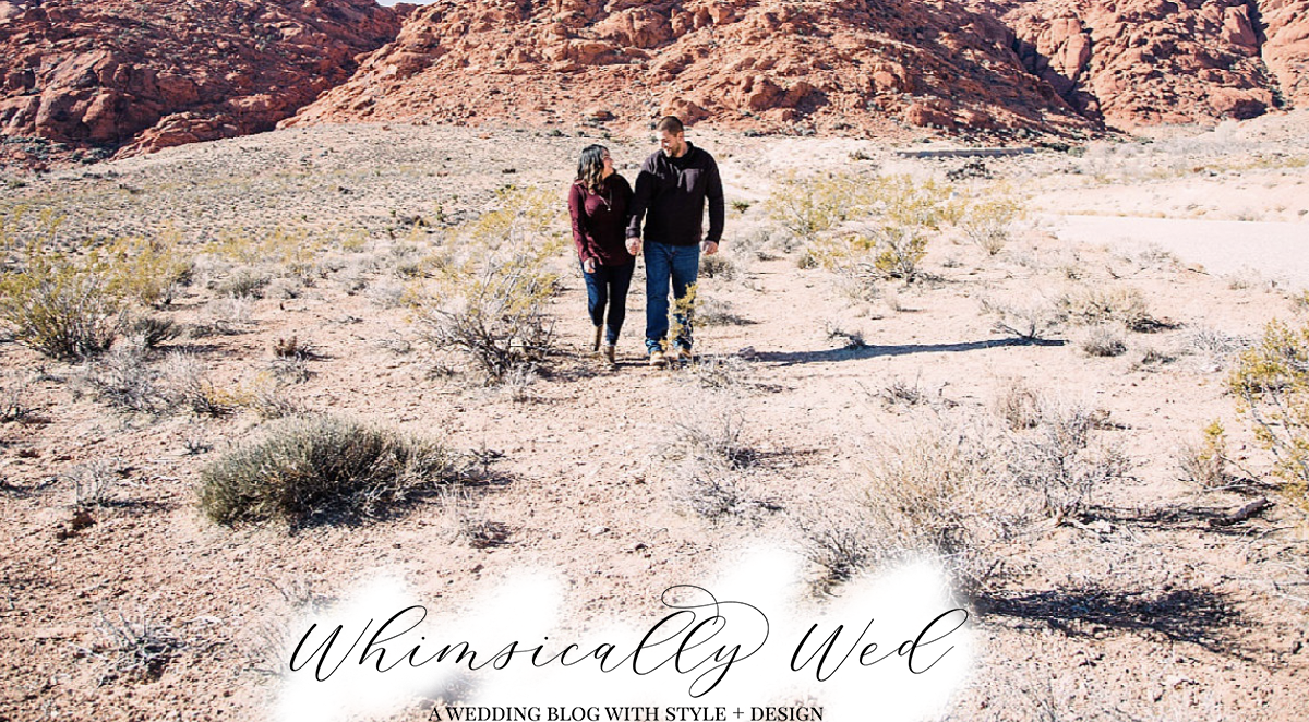 red rock engagement session