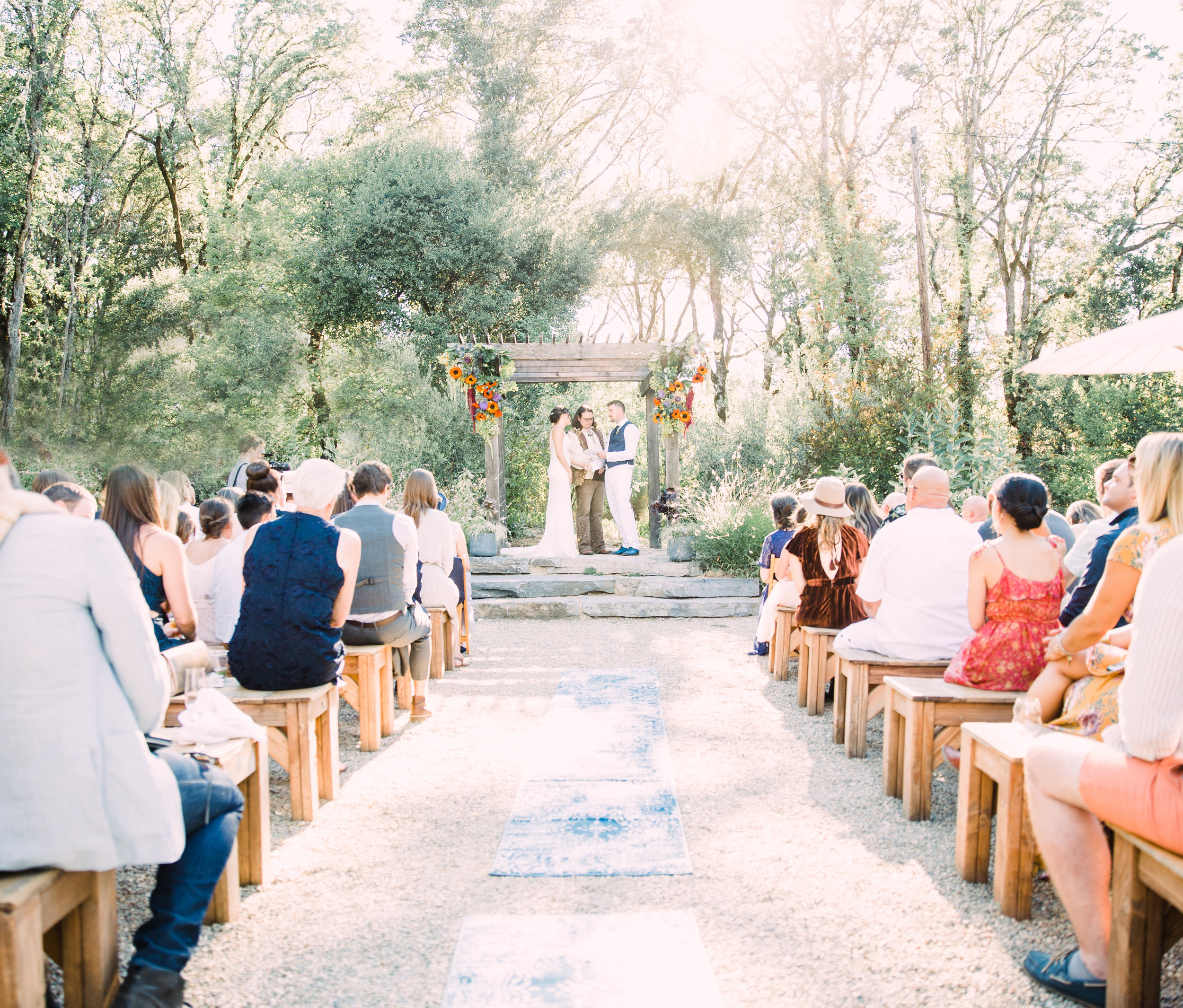 Epic wedding in Mendocino County with fairytale forest vibes