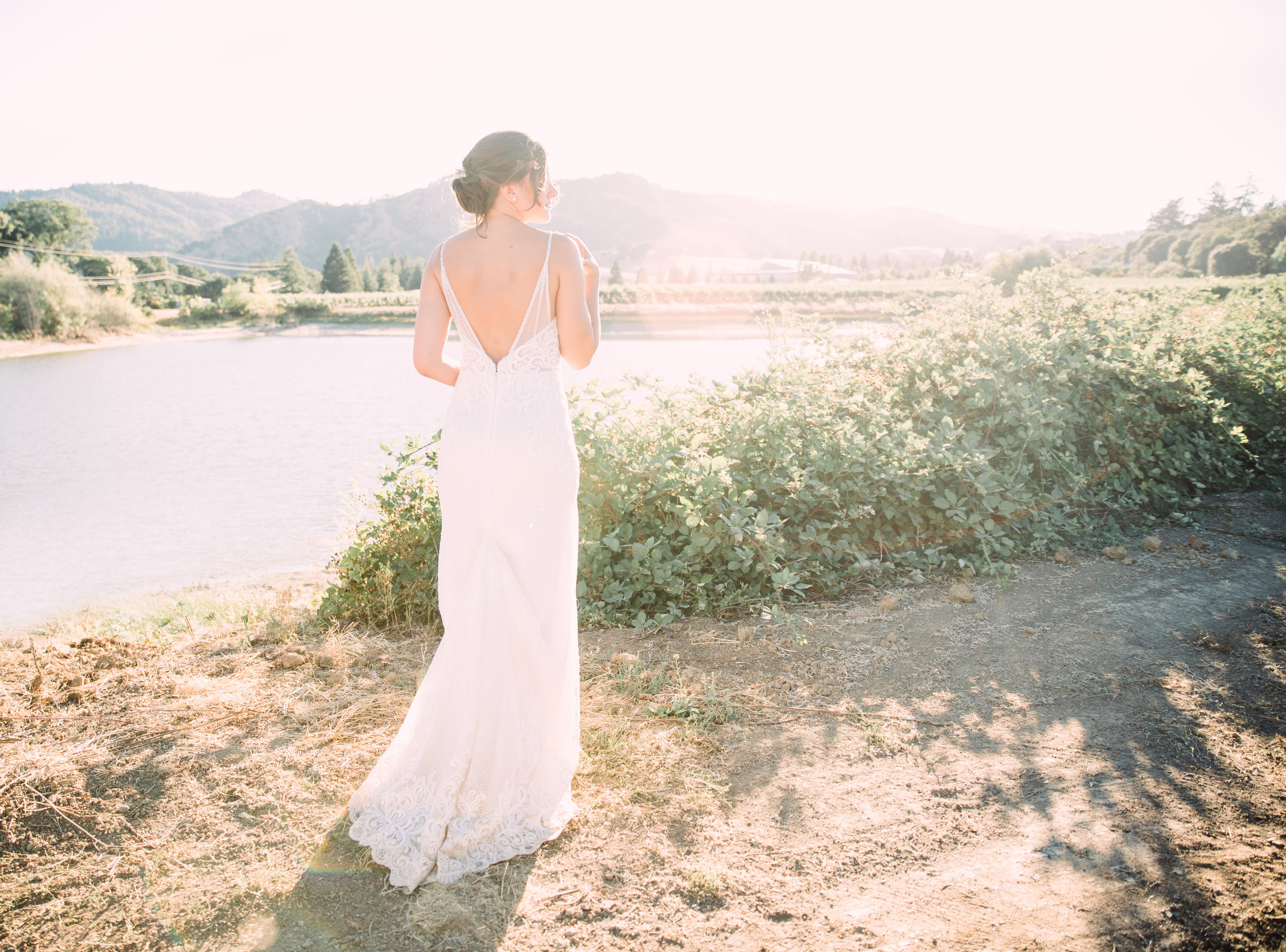 bridal portrait Northern California wedding